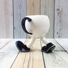 tea cup on legs sports shoe mug unique coffee mug walking