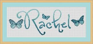 personalised butterfly cross stitch name sler kit