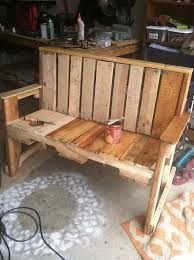 How To Build Wood Bench Pallet Wood Bench Hometalk