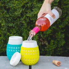 goverre stemless wine glass thick glass with silicone sleeve