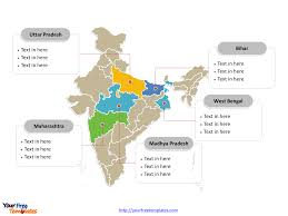 India Map With States by Free India Editable Map Free Powerpoint Templates