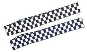 checkered ribbon white black navy 40mm banding checkered hat cap band ribbon