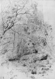 over water sketch and study ivan shishkin ivan shiskin