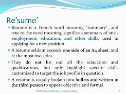 Profile In A Resume Examples by Meaning Of Resume The Best Resume