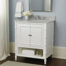 White Bathroom Vanity With Carrera Marble Top by Carrera Marble Bamboo Style Bath Vanity