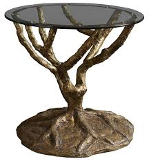 round accent table w glass top by fine furniture design wolf