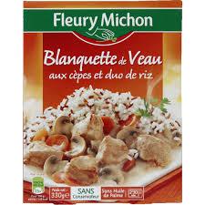 plat cuisiné fleury michon fleury michon blanquette de veau à l ancienne et riz blanc cuisson