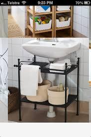 ronnskar under sink shelf easy vanity to hide ugly bathroom pipes ikea bathroom