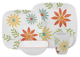 Best Place To Buy Corelle Dinnerware Corelle Square Happy Days 16 Piece Dinnerware Set