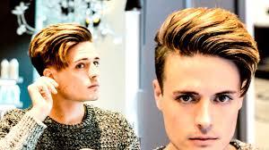 mens hair modern side swept texture hairstyle modern quiff