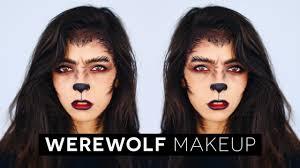 Wonder Woman Makeup For Halloween by Werewolf Halloween Makeup Tutorial Youtube