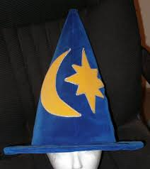 blue wizard hat cosplay handmade lined harry potter for sale