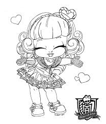 perfect monster high coloring pages baby 11 for coloring books