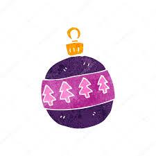 retro cartoon christmas tree decoration u2014 stock vector