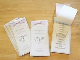 wedding program ideas diy diy layered wedding programs kits daveyard b24c2af271f2