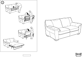 IKEA Chairs VRETA SOFA BED PDF Assembly Instruction Free Download - Sofa bed assembly
