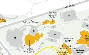 wvu evansdale map plan a visit museum virginia