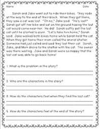 reading comprehension worksheets for first grade students 1