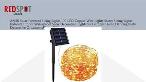 Orange Solar String Lights by Buy Amir Solar Powered String Lights 100 Led Copper Wire Lights