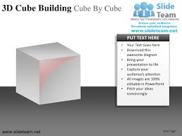 3d cube building cube by cube powerpoint ppt slides