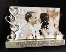 wedding gift personalised personalised engraved silver hearts photo frame 6 x 4 wedding