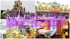disneyland paris vlogs halloween 2016 day 1 part 1 youtube