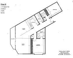 villa plans villa bay view floor plan a