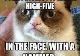 Meme Grumpy Cat - like a good neighbor stay over there grumpy cat meme