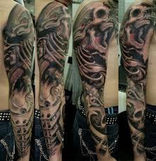 skull sleeve by javier