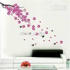 Wall Decor Stickers by Wholesale Removable And Flowers Wall Stickers Living Room