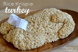 easy rice krispie treat turkey thanksgiving dessert for