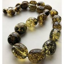 amber beads necklace images Green color amber beads necklace 110g from online baltic amber JPG