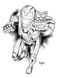 iron man inks by bambs79 on deviantart