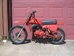 my first motorcycle was one of these honda cr80r painted red