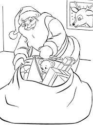 santa delivering presents santa christmas coloring pages