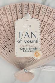fan favors wedding fan gift tags creative alternative idea for wedding gift