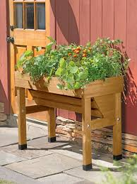 Outdoor Planter Ideas by Raised Garden Pots Gardening Ideas