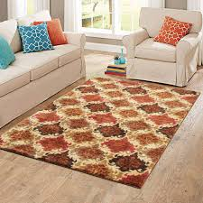 Orange Area Rug With White Swirls Zahr Greenorange Area Rug Leaf Orange And Brown Area Rug Babies