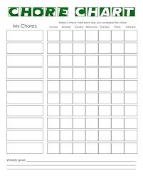 Chore Sheet Template Chore Chart Template