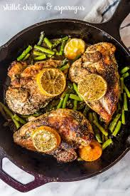 Asparagus Dishes Main Course - one pot lemon chicken and asparagus