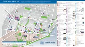 Walking Map Boston by Image Gallery Kendall Square Cambridge Map