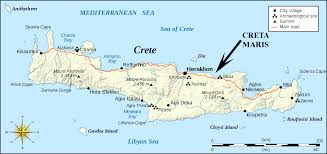 Map Of Mediterranean Sea Crete Cities By The Sea View Larger Map Crete Greece