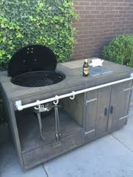 Patio Table Grill Weber Kettle Homemade Cart Table The Bbq Brethren Forums Cool
