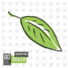 go green background with leaves vector clipart image 46252