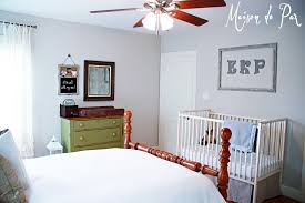 Ruffled Curtains Nursery by Guest Room And Nursery Reveal Maison De Pax