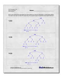 prime factorization worksheets u2013 wallpapercraft