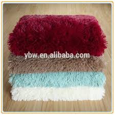 Fake Fur Blanket Berry Red Color Lion Hair Fake Fur Throw Plush Blanket Made In