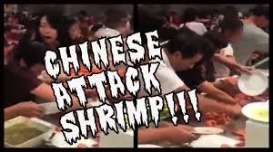 Chinese Buffet Long Island by Chinese Tourists Attack Jumbo Shrimp Like Godzilla Youtube