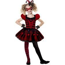 Halloween Costumes Walmart Kids Harlequin Cutie Child Halloween Costume Walmart