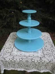 wedding cupcake stand turquoise blue cupcake stand cake